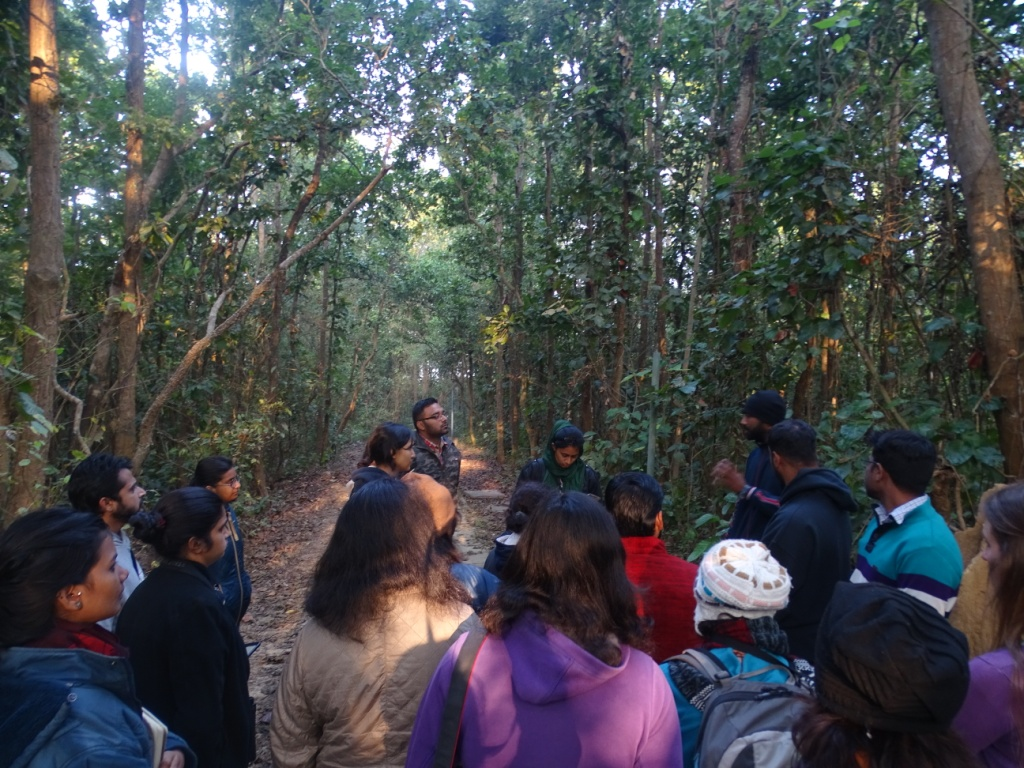 Amit talks about Himalayan plants on thennature trail icecaps